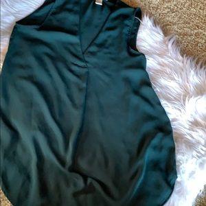 H&M Hunter Green Tunic Blouse